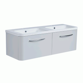 Roper Rhodes System 1200mm Gloss Light Grey Wall Mounted Vanity Unit and Basin
