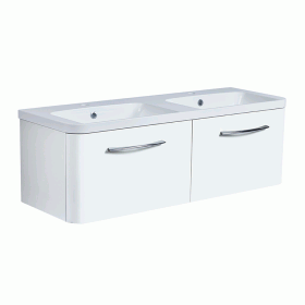 Roper Rhodes System 1200mm Gloss White Wall Mounted Vanity Unit and Basin