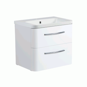 Roper Rhodes System 600mm Gloss White Wall Mounted Vanity Unit and Basin