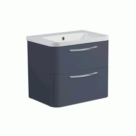 Roper Rhodes System 600mm Matt Carbon Wall Mounted Vanity Unit and Basin