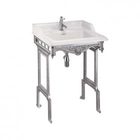 Photo of Burlington Classic Basin with Brushed Aluminium Wash Stand