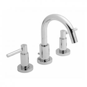 Hudson Reed Tec Lever Deck Mounted 3 Tap Hole Basin Mixer