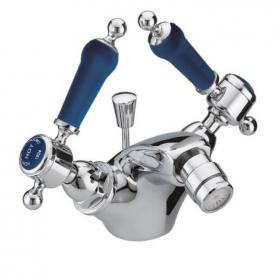 Photo of Heritage Glastonbury Midnight Blue 1 Tap Hole Chrome Bidet Mixer