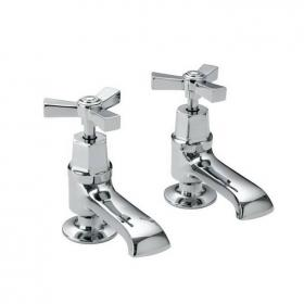 Heritage Gracechurch Basin Pillar Taps Chrome Finish