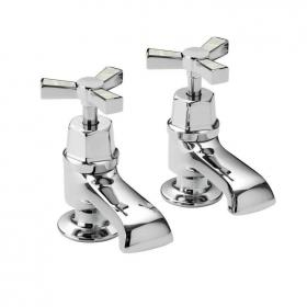 Photo of Heritage Gracechurch Mother Of Pearl Bath Pillar Taps