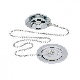 Heritage Ornate Plug & Chain Chrome Bath Waste