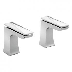 Heritage Hemsby Bath Pillar Taps Chrome Finish