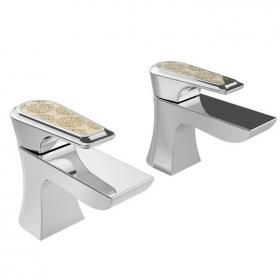 Heritage Lymington Lace Gold Basin Taps