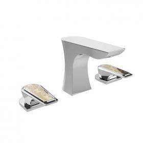 Heritage Lymington Lace Gold 3 Tap Hole Basin Mixer