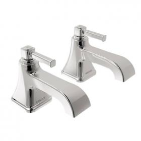 Heritage Somersby Bath Pillar Taps Chrome Finish