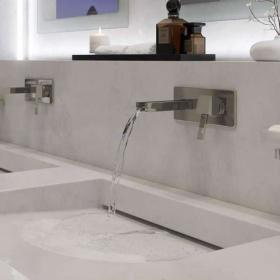 Vado Te Falls Wall Mounted Basin Mixer