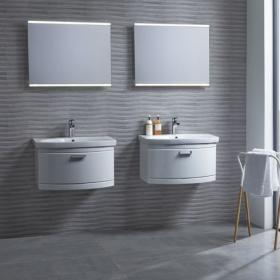 Tavistock Tempo 650mm White Wall Mounted Unit & Basin