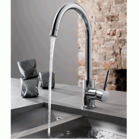 Crosswater Cucina Tropic Side Lever Kitchen Mixer With Concealed Spray Head