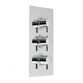 Photo of Vado Celsius Twin Outlet Three Handle Thermostatic Shower Valve