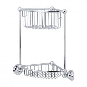 Photo of Perrin & Rowe Traditional Two Tier Corner Basket