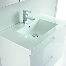 Frontline Vitale White Gloss 600mm Vanity Unit & Basin