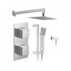 Vado Tablet Notion Twin Outlet Thermostatic Shower Package