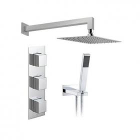 Vado Tablet Notion Vertical Twin Outlet Thermostatic Shower Pack