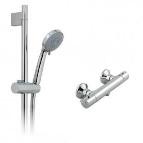 Vado Prima Exposed Thermostatic Shower Valve & 3 Function Shower Kit