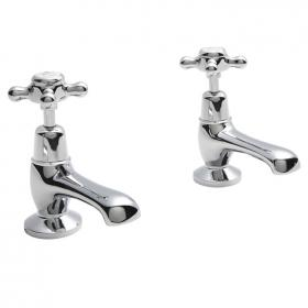 BC Designs Victrion Crosshead Basin Pillar Taps