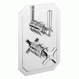 Crosswater Waldorf 1500 Thermostatic Chrome Lever Shower Valve - Slimline