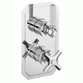 Crosswater Waldorf 1000 Thermostatic Shower Valve - Slimline White Lever