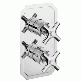Photo of Crosswater Waldorf Chrome Crosshead 2500 Shower Valve Three Way Diverter - Slimline