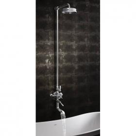 Crosswater Waldorf Exposed Thermostatic Bath Shower Mixer with Fixed Head
