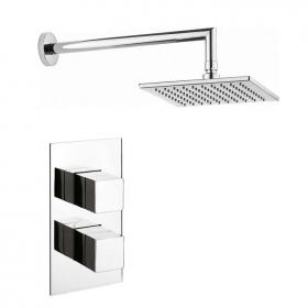 Crosswater Water Square Shower Head with Twin Shower Valve
