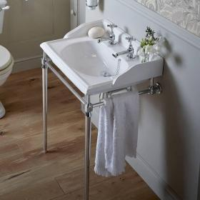 Heritage Dorchester Basin & Abingdon Washstand Chrome Finish