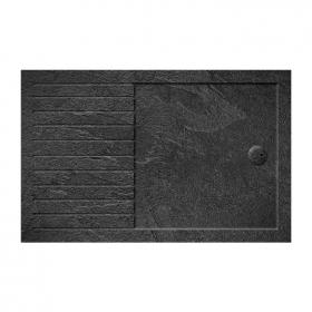 Photo of Zamori 35mm Rectangular 1400mm x 900mm Walk In Grey Slate Shower Tray