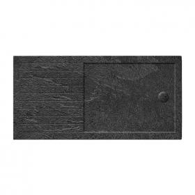 Photo of Zamori 35mm Rectangular 1600mm x 800mm Walk In Grey Slate Shower Tray