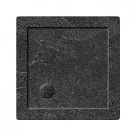 Zamori 35mm Square 700mm x 700mm Grey Slate Shower Tray