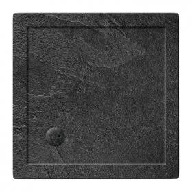 Zamori 35mm Square 900mm x 900mm Grey Slate Shower Tray