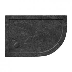 Zamori 35mm Offset Quadrant 1200mm x 800mm Grey Slate Shower Tray