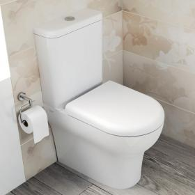 Vitra Zentrum Close Coupled WC & Seat (Closed Back)