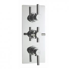 Hudson Reed Tec Pura Thermostatic Triple Shower Valve