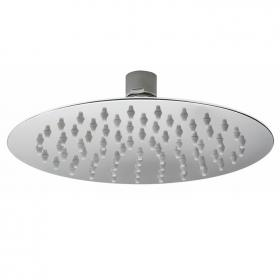 Hudson Reed 200mm Slim Stainless Steel Round Fixed Shower Head