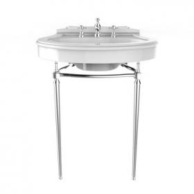 Heritage Claverton Basin & Abingdon Washstand Chrome Finish