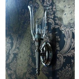Arcade Oval Base with Clear Vase Shade Wall Light