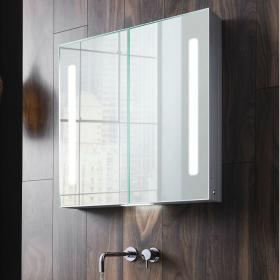 Bauhaus Allure 700mm LED Illuminated Mirrored Cabinet
