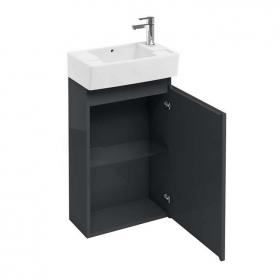 Photo of Aqua Cabinets Compact Anthracite 490mm Cloakroom Cabinet