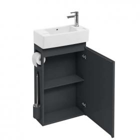 Photo of Aqua Cabinets Anthracite All In One Cloakroom Unit & Basin