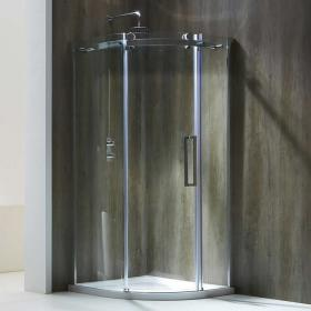 Aquaglass+ Frameless 8mm  1 Door Quadrant Shower Enclosure