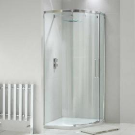 Aquaglass+ Luxury 8mm Single Door Quadrant Shower Enclosure