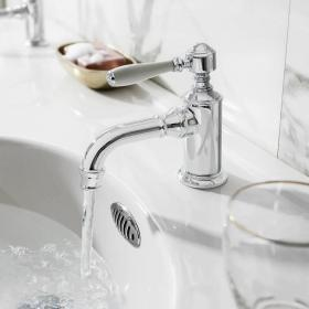 Photo of Arcade Chrome Single Lever Mono Basin Mixer Tap with Choice of Handle