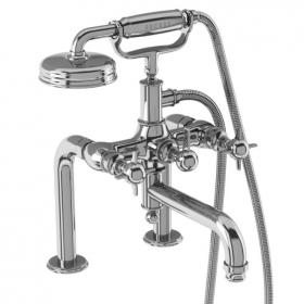 Arcade Chrome Crosshead Deck Mounted Bath Shower Mixer