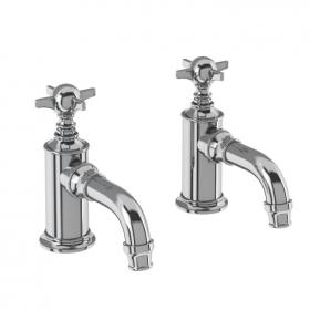 Arcade Chrome Crosshead Cloakroom Basin Pillar Taps