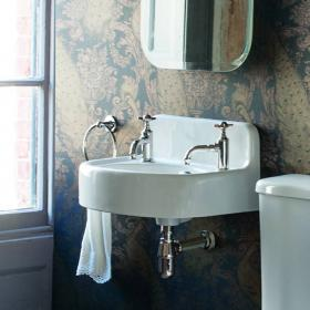 Arcade 500mm Cloakroom Basin with 2 Tap Holes