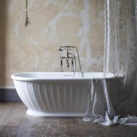 Photo of Arcade Albany 1690mm Natural Stone Freestanding Bath inc Waste